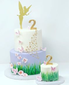 This is the cake I definitely for sure want. Tinkerbell Birthday Cakes, Fairy Birthday Cake, Tinkerbell Party, Garden Birthday, Tangled Party, Princess Birthday, Fairy Garden Cake, Garden Cakes, Fairy Cakes