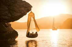 DEDON: SWINGREST - Hanging lounger - natural
