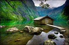 """Located in the Berchtesgaden National Park in the south of Germany close to the Austrian border, the Obersee in English means the """"upper lake"""".…"""