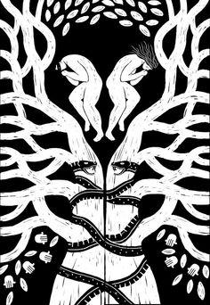 Un viaje por la cosmogonía de varias culturas prehispánicas ilustrado por Juan Palomino.