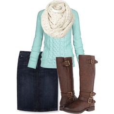 A fashion look from December 2014 featuring Fat Face sweaters, Boden skirts and Naturalizer boots. Browse and shop related looks. #bootsfall