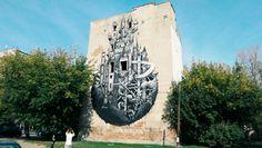 Piękny mural na skrzyżowaniu Kamionkowskiej i Bliskiej, za bazarkiem na Grochowskiej.
