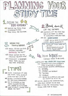 Outline Your Study Time...