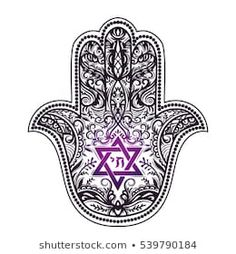 Hamsa Stock Vectors, Images & Vector Art - Elegant hand drawn Isolated traditional Jewish sacred amulet and religious symbols – Hamsa or hand - Hamsa Tattoo, Mosaic Tattoo, Jewish Tattoo, Hebrew Tattoo, Star Tattoos, Body Art Tattoos, Yoga Tattoos, Tattoo Art, Tatoos