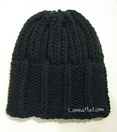 05ed1f00fee4e Mens knit hat. The Parthenon Hat is currently a free man s loom knit hat  pattern