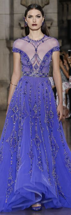 Georges Hobeika Fall Winter 2017 Haute Couture Collection (Fall Top Lace Detail)