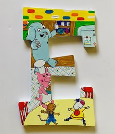 Letter Set, Letter Wall, Art Classroom, Classroom Themes, Birthday Numbers, Birthday Cards, Storybook Nursery, Painting Wooden Letters, Storybook Characters