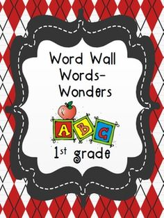 1st grade Wonders Reading word wall word practice for the Interactive Whiteboard (StarBoard)