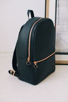 leather bag grunge gold holiday gift mens backpack bag backpack leather backpack leather hipster black zip back to school shoulder bag chic style fashion school bag Fashion Bags, Fashion Backpack, Mens Fashion, Style Fashion, Fashion Killa, Fashion Beauty, Fashion Outfits, My Bags, Purses And Bags