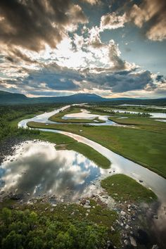 Summer in Lapland, Sweden. by Antonio Saba, via Behance