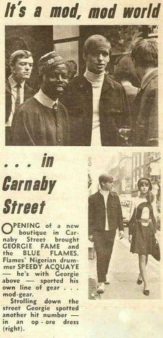 Georgie Fame and Chrissie Shrimpton on Carnaby Street.
