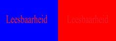 Leesbaarheid is links duidelijker dan rechts