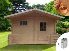 Sauna d'extérieur 4/5 places KEVEREI III pas cher 2 pièces poêle & accessoires prix Sauna Vente Unique 2 399.99 € TTC prix constaté de 3 380.00 €
