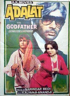 Adalat (1975), Amitabh Bachchan, Classic, Indian, Bollywood, Hindi, Movies, Posters, Hand Painted
