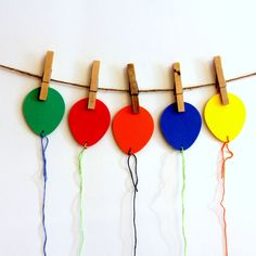 Party Balloon Party Bag Tags 10 by 42things on Etsy, $4.00