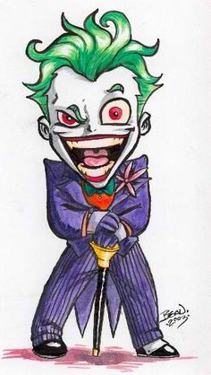 detail for -Chibi-Joker by ~hedbonstudios on deviantART .Image detail for -Chibi-Joker by ~hedbonstudios on deviantART . Joker Drawings, Marvel Drawings, Disney Drawings, Cartoon Drawings, Cartoon Art, Cute Drawings, Drawing Sketches, Joker Drawing Easy, Deadpool Drawings