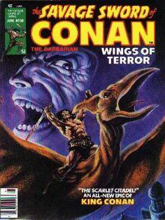 When Titans Clash! Savage Sword of Conan 30 (FN+ Marvel Comics, Conan Comics, Marvel Dc, Fantasy Sword, Dark Fantasy, Frank Brunner, Conan The Barbarian Comic, Fantasy Comics, Fantasy Books