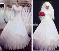 Princess-White-Arab-High-Neck-Long-Sleeves.jpg (875×752)