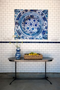 Babylonstoren's peerless Karen Roos unravels the thinking that went into the contemporary Delft-inspired details to be found around the boutique leisure farm. Pocket Full Of Sunshine, Metro Tiles, Handmade Tiles, Apartment Kitchen, Something Blue, South Africa, Blue And White, Contemporary, Interior Design