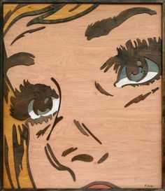 Layered wood pop art... amazing!