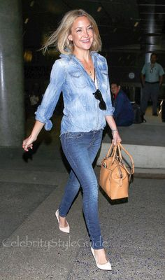 Kate Hudson Is A Denim Cutie As She Lands At LAX