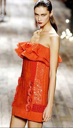 One Shoulder, Shoulder Dress, Orange Crush, Strapless Dress, Dresses, Fashion, Elegant, Strapless Gown, Vestidos