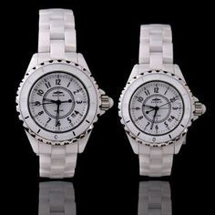 Classical Round Analog Dial Watch for Lady with Ceramic Strap