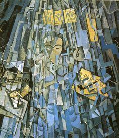Tableaux sur toile, reproduction de Dali, Cubist Self Portrait, 104x74cm