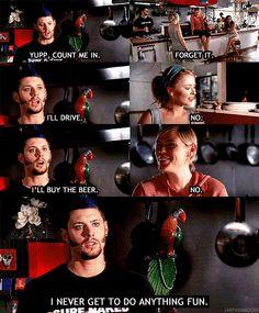 "ten inch hero ""I never get to do anything fun"" :)"