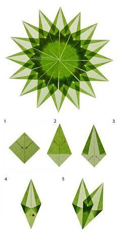 Make Christmas star - Paper Origami 💡 Origami Diy, Origami And Kirigami, Origami Stars, Origami Flowers, Origami Tutorial, Origami Paper, Diy Paper, Paper Crafting, Paper Flowers