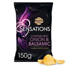 Sensations Onion And Balsamic Vinegar Crisps 150 G - Groceries - Tesco Groceries
