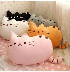 Kawaii Kids Toys Stuffed Animal Doll Peluches Anime Plush Toys Pusheen Cat Pillow For Girl Kid Cute Cushion Brinquedos Plush Animals, Stuffed Animals, Stuffed Toys, Chat Pusheen, Pusheen Toys, Pusheen Shirt, Halloween Noir, Cute Cushions, Beginner Sewing Projects
