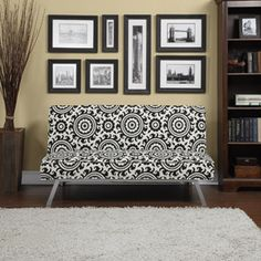 Another office seating idea Gage Medallion Click-Clack Futon Sofa Bed, Multiple Colors