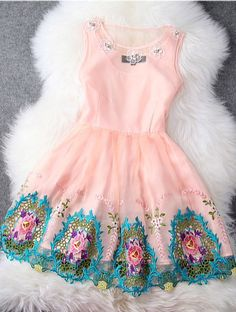 Embroidered dress ...beautiful dress for a darling babygirl on Easter Sunday or her 1st birthday.