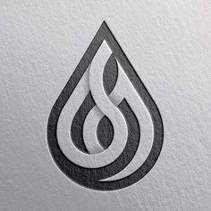 "by - ""Oil Drop"" sign. Blog Logo, Typography Logo, Art Logo, Web Design, Design Art, Design Ideas, Logo Minimalista, Geometric Logo, Grafik Design"