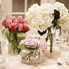 white centerpieces wedding - Google Search