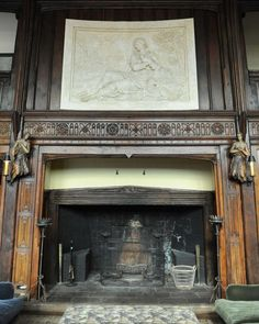 The living room fireplace in the mansion on the property at 124 Old Mill Rd. in Greenwich, Conn. Thursday, Jan. 15, 2015.  The 15,862 sq. ft. house on 75.7 acres was formerly owned by movie star Mel Gibson.  The mansion built in 1926 has 15 bedrooms, 10 full- and seven half-baths, a pool, movie theater, tennis court, stables, pond, outdoor hedge maze and life-sized outdoor chess board. Photo: Tyler Sizemore / Greenwich Time