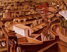 El Moli - Paisaje de Cadaqués - Salvador Dalí 1923. Óleo sobre lienzo. 75 x 98 cm. Propiedad particular.