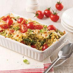 Casserole de quinoa gratinée - Soupers de semaine - Recettes 5-15 - Recettes express 5/15 - Pratico Pratique