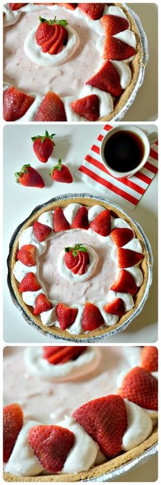 Housevegan.com: Vegan Strawberry Chiffon Pie - This is a cream pie to dream by! Just the kind of food that inspires me to indulge <3