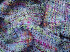 Handwoven+multicoloured++boucle+winter++scarf+by+PenelopeNow,+$75.00