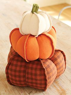 Sewing Patterns for Fall Pumpkin Trio Pattern | Bookdrawer