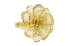 Yellow Gold Flower Ring - Isaac Westman - 1