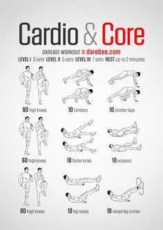 Cardio & Core - Darebee Workout                                                                                                                                                                                 More