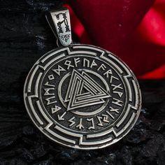 "THOR'S HAMMER ""Valknut"" pendant necklace MJOLNIR norse mythology sterling silver god viking handmade Thors hammer Fine jewelry"