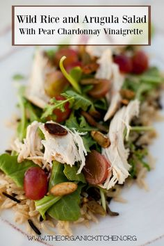 Wild Rice and Arugula Salad with Pear Chardonnay Vinaigrette
