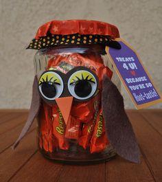 Owl Candy Jars DIY