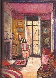 The Drawing-room of 2 Carlyle Square, Chelsea by Ethel Sands 1920s