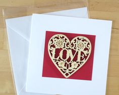 Love card Romantic card Anniversary card Engagement card