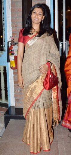 Nandita Das at a launch of new book on Smita Patil. #Bollywood #Fashion #Style #Beauty #Desi #Saree